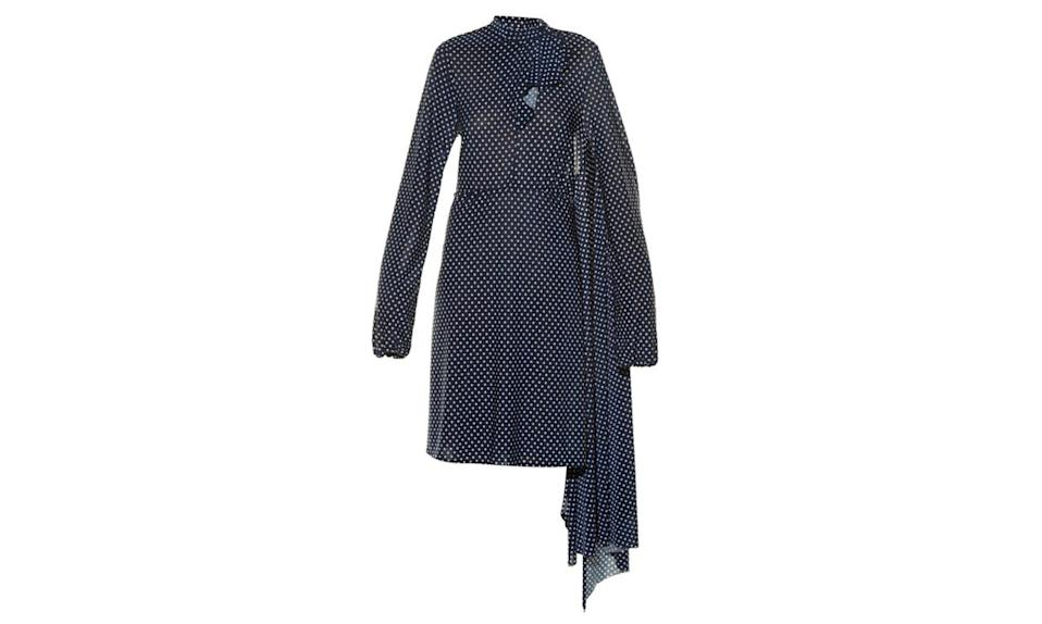 """<p>Vetements open back polka dot print dress, $1676, <a href=""""http://www.matchesfashion.com/us/products/Vetements-Open-back-polka-dot-print-dress-1046746"""" rel=""""nofollow noopener"""" target=""""_blank"""" data-ylk=""""slk:Matches fashion"""" class=""""link rapid-noclick-resp"""">Matches fashion</a></p>"""