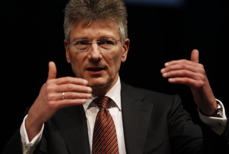 Degenhart, CEO of Germany's Continental AG speaks during the 'International CAR Symposium' in Bochum