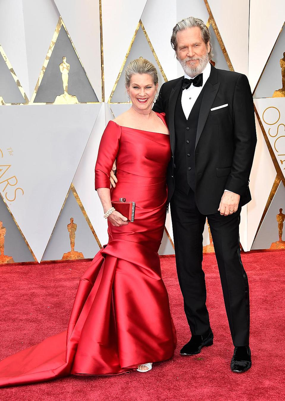 <p>Susan Geston and Jeff Bridges attend the 89th Annual Academy Awards at Hollywood & Highland Center on Feb. 26, 2017. (Photo by Frazer Harrison/Getty Images) </p>