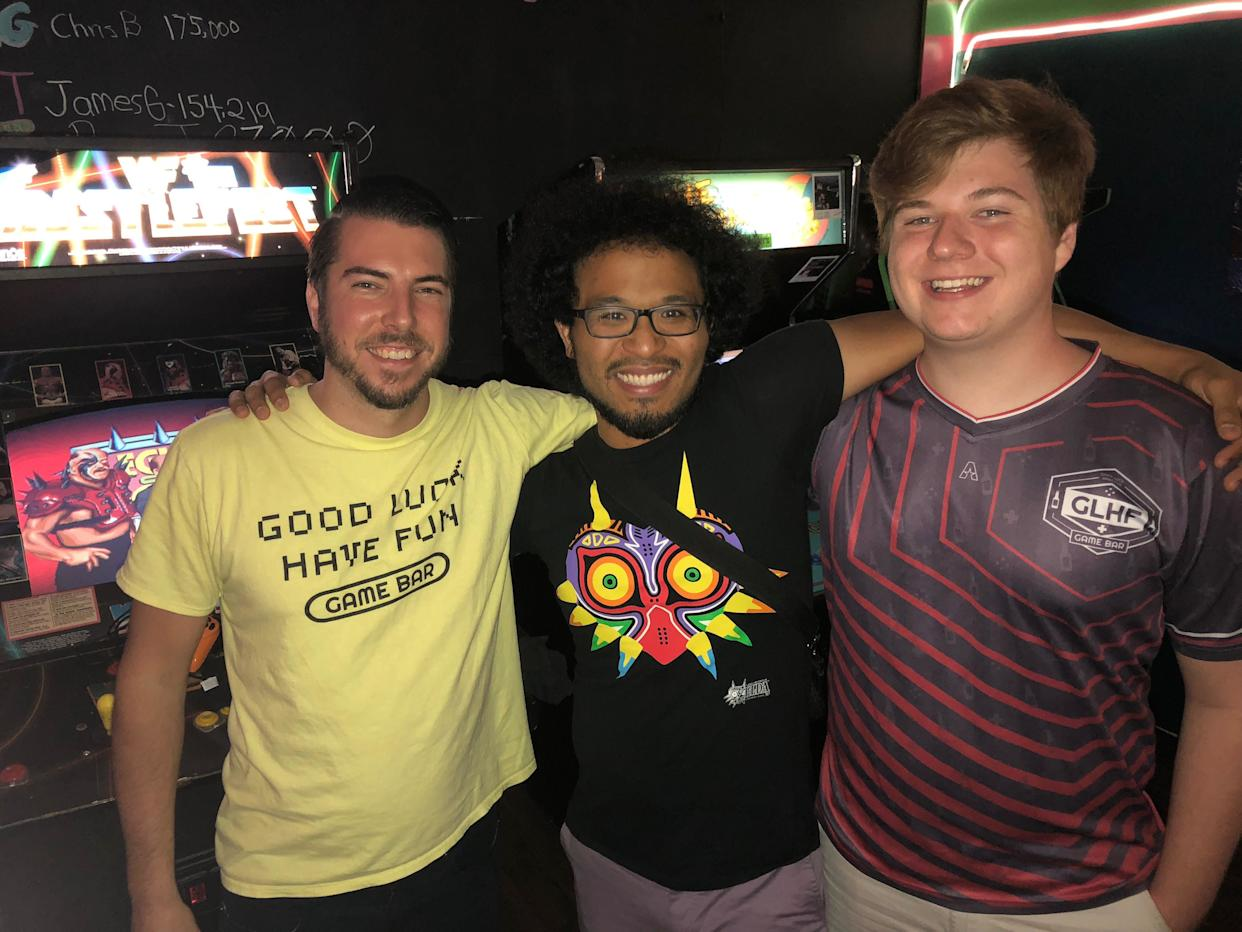 From left to right: Kyle Schmisek, Joshua Campbell and Mark Ronan, at Keg & Coin in Jacksonville. (Photo: Andy Campbell/HuffPost)