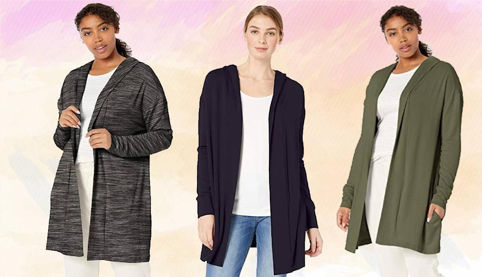 Amazon's super-popular, super-soft flowy cardigan is perfect for cool fall days. (Photo: Amazon)