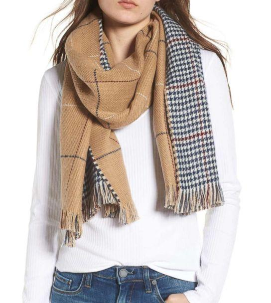 PHOTO: B.P., Reversible Houndstooth Grid Scarf, $29 (Nordstrom)
