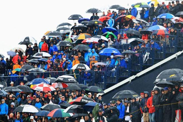 It was a rainy Friday at the Open Championship. (Getty)