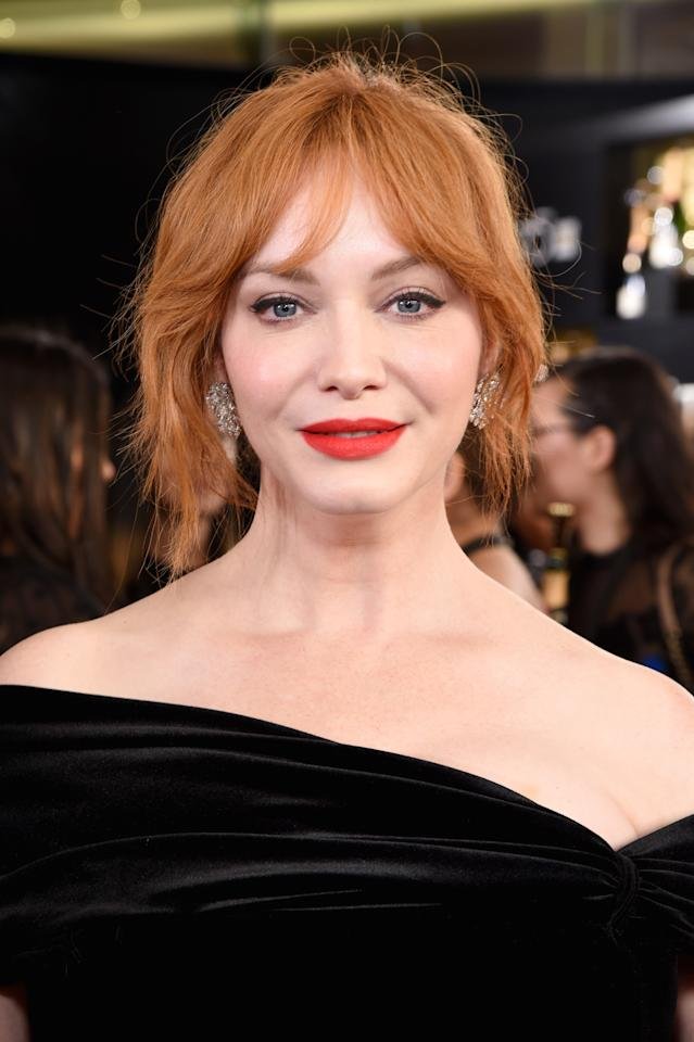 What words..., her golden globes redhead with you