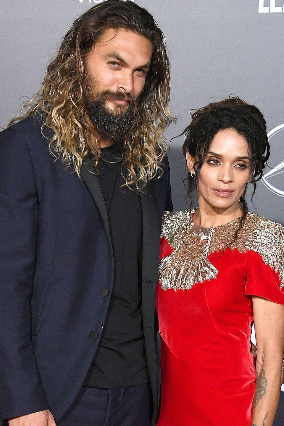 <p>Lisa nabbed herself a Dothraki ... and one who just happens to have a facial structure very similar to hers. It may be hard to see through that bushy beard, but it's all in those defined cheeks.</p>