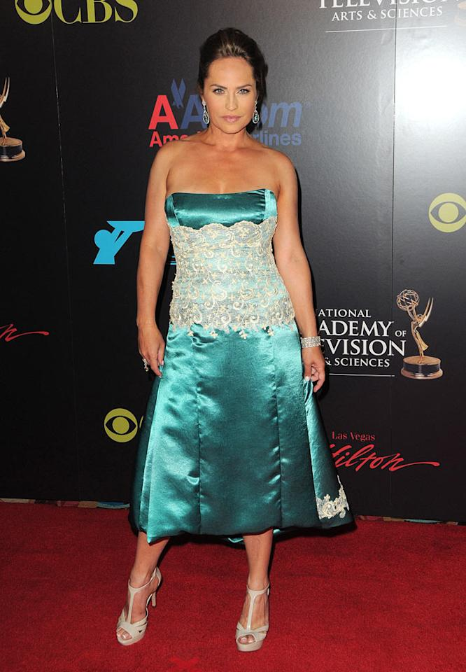 "We can't believe ""Days of Our Lives"" star Crystal Chappell dared to walk the red carpet in this prom bomb. Jordan Strauss/<a href=""http://www.wireimage.com"" target=""new"">WireImage.com</a> - June 27, 2010"
