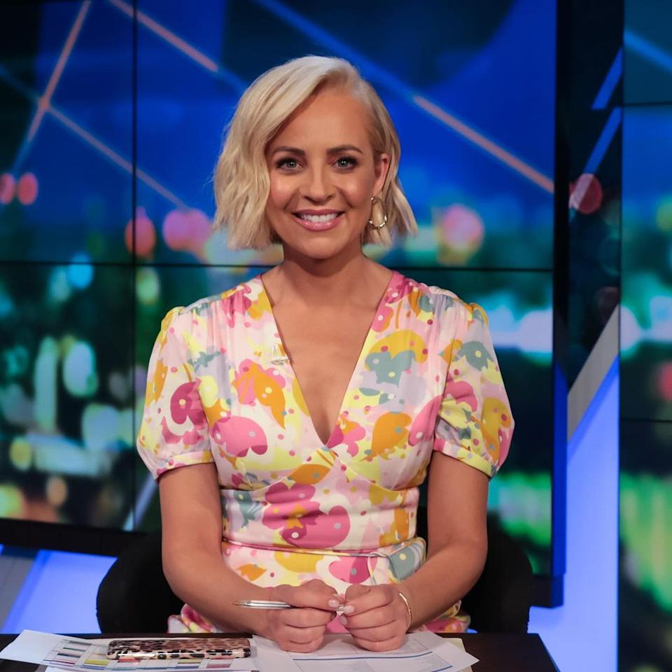 Carrie Bickmore has taken to Instagram to share a hilarious set of snaps of herself from the 1990s. Photo: Instagram/Carrie Bickmore