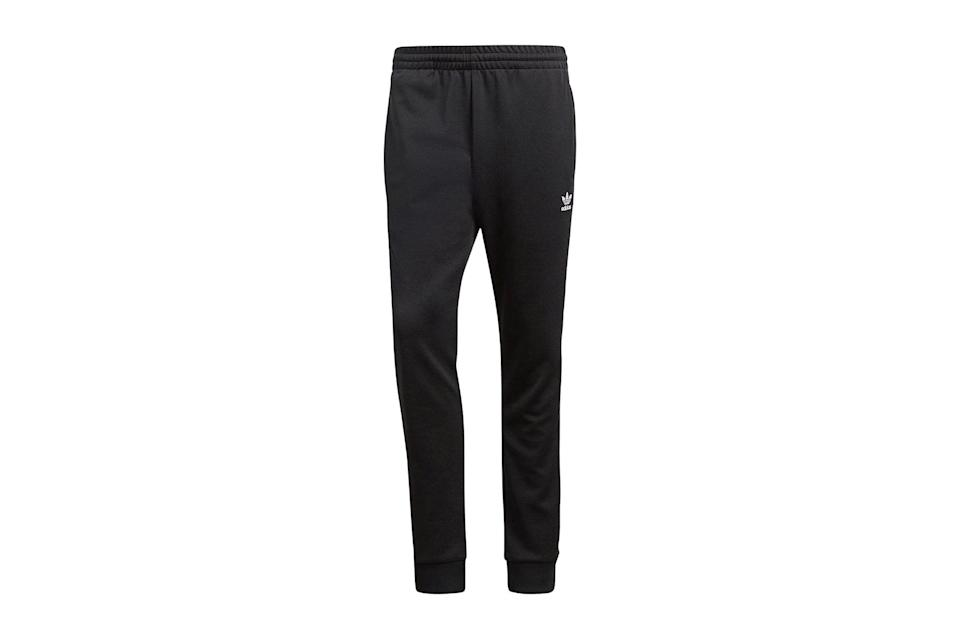 "$43, Amazon. <a href=""https://www.amazon.com/adidas-Originals-Superstar-Track-Pants/dp/B071G1WYL8/ref=sr_1_3_sspa?dchild=1&keywords=adidas%2Btrack%2Bpants&qid=1599569992&sr=8-3-spons&spLa=ZW5jcnlwdGVkUXVhbGlmaWVyPUEzNUtTRFZKUEw3SFRGJmVuY3J5cHRlZElkPUEwMzM4Mjg5M1RMQU1MMEg0NEZPUiZlbmNyeXB0ZWRBZElkPUEwMjA5OTEyM1JGUURFUjlIU0dETiZ3aWRnZXROYW1lPXNwX2F0ZiZhY3Rpb249Y2xpY2tSZWRpcmVjdCZkb05vdExvZ0NsaWNrPXRydWU&th=1&psc=1"" rel=""nofollow noopener"" target=""_blank"" data-ylk=""slk:Get it now!"" class=""link rapid-noclick-resp"">Get it now!</a>"