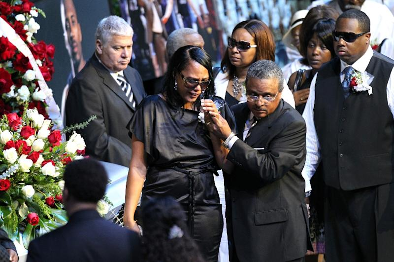 Sherra Wright-Robinson, pictured here during a memorial service for her ex-husband Lorenzen Wright, was charged with conspiracy, first-degree murder and criminal attempt first degree murder said the Memphis Police Department