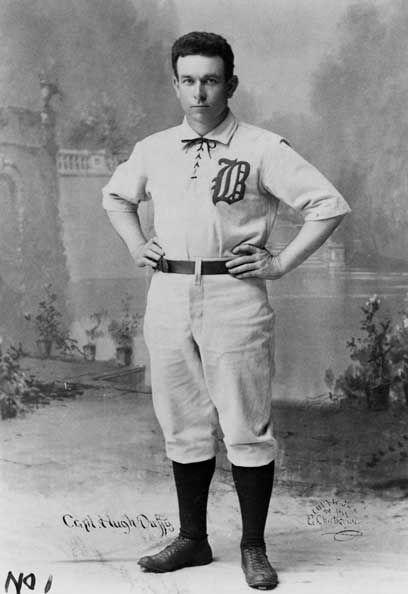 """<p><strong>August 6, 1897</strong>: Hugh Duffy of the Boston Beaneaters made the greatest catch anyone had ever seen in the (then relatively short) history of baseball. Baltimore pitcher Joe Corbett hit a surprising line drive to left field, and Duffy, playing in, immediately set back and leapt into the air, snagging the ball over his shoulder with his bare hand. He then made a perfect throw home, nipping Baltimore's Joe Quinn, who tried to score from second on a sacrifice fly. """"Everyone comments on how great Willie Mays' catch was, but people have forgotten all about Duffy, who made an incredibly similar play,"""" says Thorn.<br> </p>"""