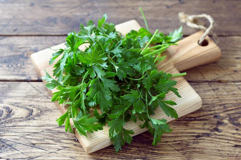 Bunch of fresh organic parsley. (PHOTO: Getty Images)