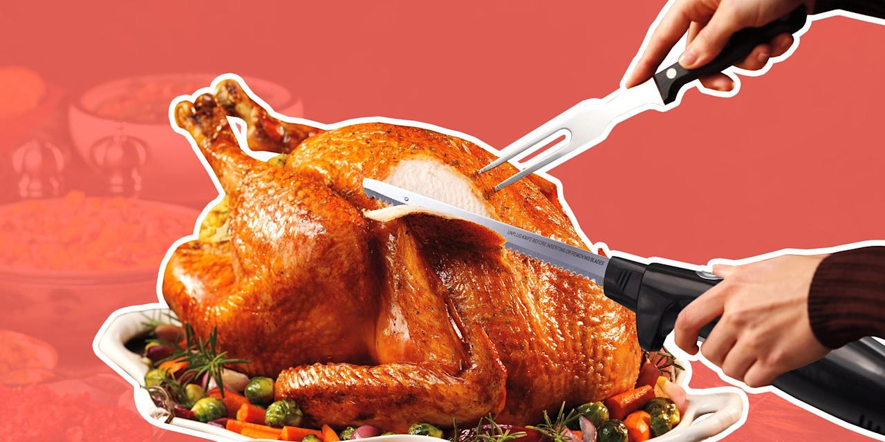 "<p>It's time to toss out those flimsy old knives and upgrade to an electric knife instead. Electric knives are handy small appliances that <a href=""https://www.bonappetit.com/test-kitchen/tools-test-kitchen/article/use-an-electric-knife-on-thanksgiving-turkey"" target=""_blank"">deserve a spot in any kitchen</a> — especially during the holidays. Whether you're thin-slicing a beef tenderloin or carving a roast ham or <a href=""https://www.foodnetwork.com/recipes/ina-garten/perfect-roast-turkey-recipe4-1943576"" target=""_blank"">turkey for the holidays</a>, an electric knife makes the task much safer, faster, and more consistent.</p><p>We've rounded up the top-rated electric knives for every budget.</p>"