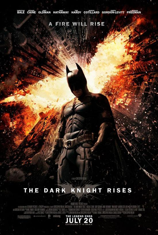 'Dark Knight Rises' Poster Features Fiery Buildings, Mournful Batman