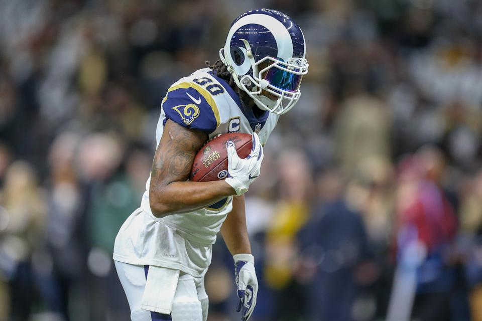 Todd Gurley's unproductive game on Sunday wasn't all his fault — head coach Sean McVay says he shares the blame. (Getty Images)