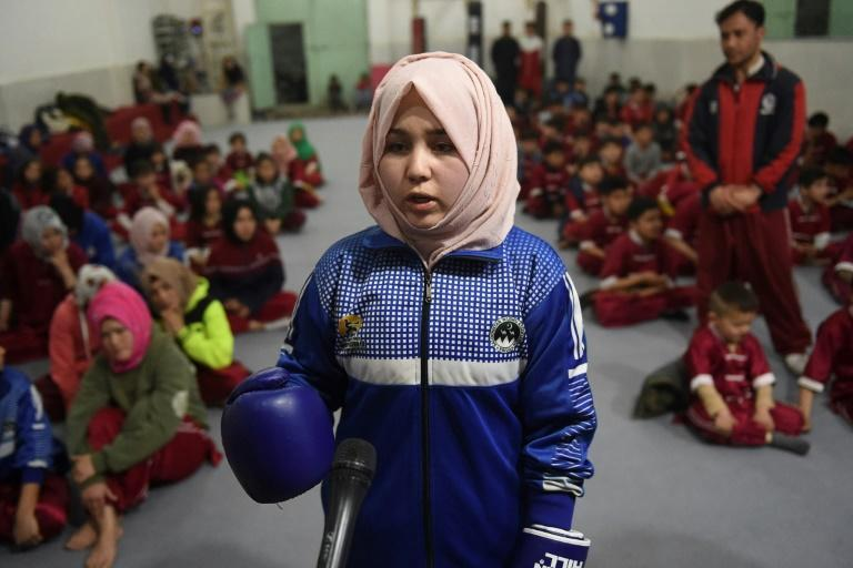 Student Syeda Qubra, whose brother was killed in a bomb blast in 2013