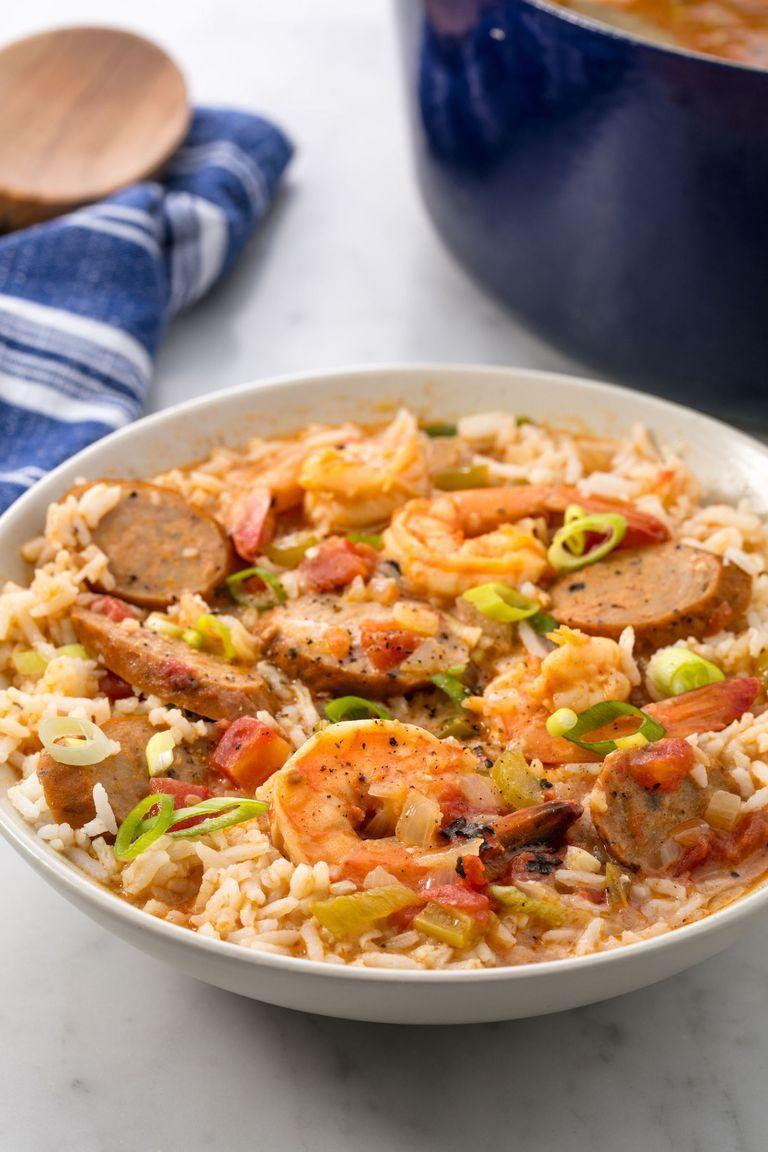 """<p>Few dishes are more comforting than a warm bowl of gumbo.</p><p>Get the <a href=""""https://www.delish.com/uk/cooking/recipes/a29734859/easy-seafood-gumbo-recipe/"""" rel=""""nofollow noopener"""" target=""""_blank"""" data-ylk=""""slk:Prawn & Sausage Gumbo"""" class=""""link rapid-noclick-resp"""">Prawn & Sausage Gumbo</a> recipe.</p>"""