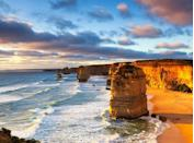 <p>We'd drive the 150-mile Great Ocean Road in Victoria just for a glimpse of these dreamy limestone stacks. After several apostles collapsed, only nine remain off the coast of Port Campbell National Park (but, yes, that's still the name).</p>