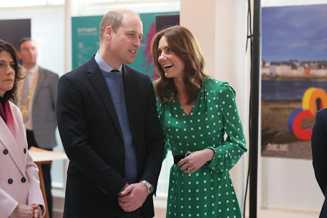 The Duke and Duchess of Cambridge were more affectionate in Ireland. (Press Association)
