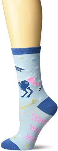 K. Bell Women's Horiscope Sign Novelty Crew Socks, Light Blue (Sagittarius), Shoe Size: 4-10 (Amazon / Amazon)
