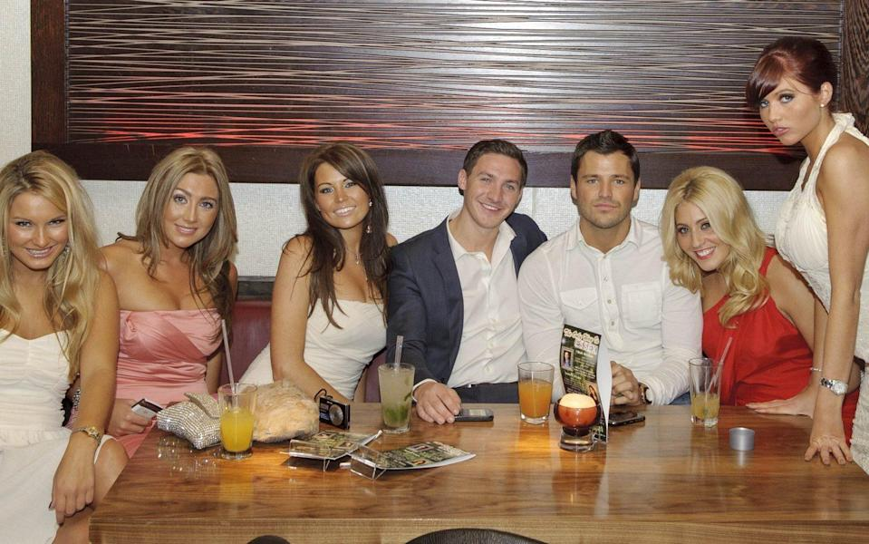The original gang: Sam Faiers, Lauren Goodger, Jessica Wright, Kirk Norcross, Mark Wright, Candy Jacobs and Amy Childs