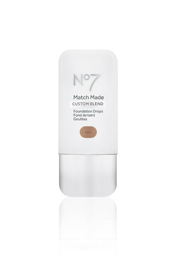 <p>No7's gone and made your hunt for the perfect foundation shade SO much simpler: Head into any Boots store and ask a staff member to test your exact skin tone. They'll then match it to the brand's new custom blend foundation drops, which provide any level of coverage you want with just a few drops. Either mix in with your go-to day cream or primer and your skin will appear beautifully even. There are 25 shades available – so you're bound to find the perfect shade. </p>