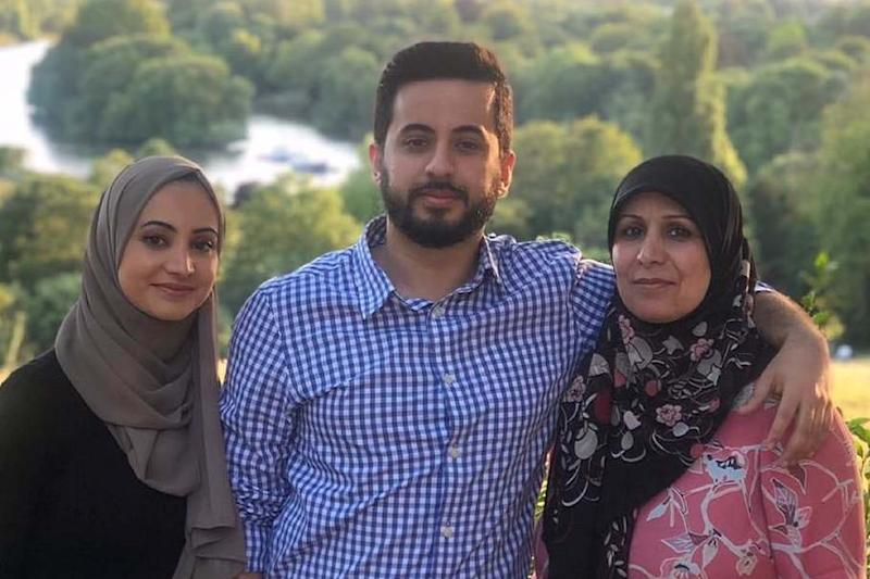 Court battle: Mohammed Al-Zehairi with sister Wajd and mother Erkam Hassan: Handout