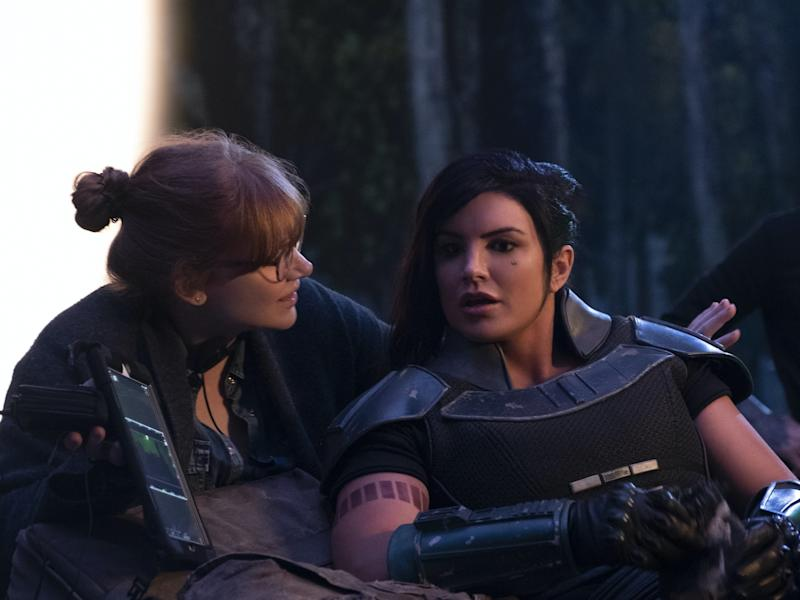 Carano with director Bryce Dallas Howard on the set of 'The Mandolorian''s first seasonDisney+