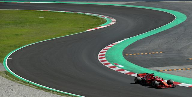 F1 Formula One - Formula One Test Session - Circuit de Barcelona-Catalunya, Montmelo, Spain - March 9, 2018. Kimi Raikkonen of Ferrari takes a curve during testing. REUTERS/Albert Gea