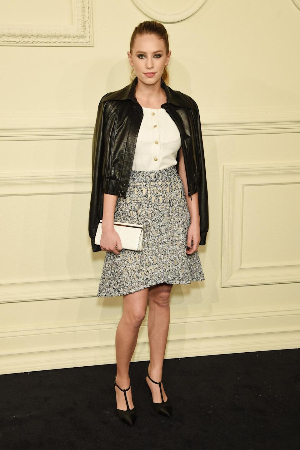 <p>The daughter of Robin Wright and Sean Penn looked amazing in a full Chanel getup. Bonus points for the laid-back ponytail.</p>