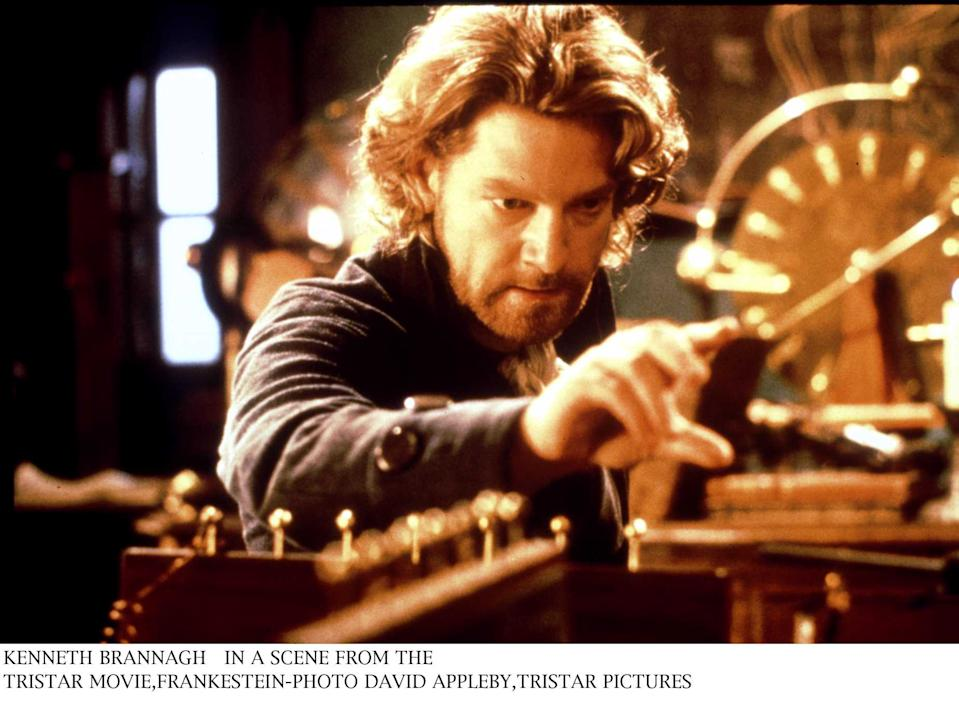 """Kenneth Branagh In A Scene From The Tristar Movie """"Frankenstein"""". David Appleby, Tristar Pictures (Photo By Getty Images)"""