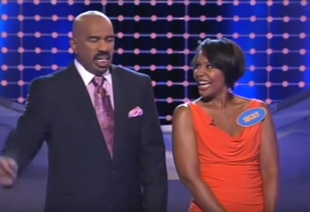 """<p>When Steve Harvey asked <a href=""""https://www.orlandosentinel.com/entertainment/os-xpm-2010-11-22-os-secily-wilson-20101122-story.html"""" rel=""""nofollow noopener"""" target=""""_blank"""" data-ylk=""""slk:Sicily Wilson"""" class=""""link rapid-noclick-resp"""">Sicily Wilson</a> to name a part of a man's body that's bigger than it was when he was 16 on a 2010 episode of """"Family Feud,"""" he clearly, based on his reaction, did not expect the Orlando-based TV personality to answer how she did. You can probably guess her response...at least she used the medical term.</p>"""