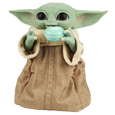"""<p><strong>Hasbro</strong></p><p>amazon.com</p><p><strong>$80.00</strong></p><p><a href=""""https://www.amazon.com/STAR-WARS-9-25-Inch-Tall-Animatronic-Combinations/dp/B08P3127HC?tag=syn-yahoo-20&ascsubtag=%5Bartid%7C10055.g.29624061%5Bsrc%7Cyahoo-us"""" rel=""""nofollow noopener"""" target=""""_blank"""" data-ylk=""""slk:Shop Now"""" class=""""link rapid-noclick-resp"""">Shop Now</a></p><p>The hottest <em>Star Wars </em>toy of the year is this new, second-generation version of the animatronic Baby Yoda. Kids can feed it, and it'll make """"yummy"""" or """"yucky"""" noises. It'll lift its arms when it wants to be picked up and it reacts differently to four interactive accessories (a bowl with tentacles, a cookie, a shifter knob and a spoon). It's available for pre-order and will be released on December 1. <em>Ages 4+</em></p><p><strong>RELATED:</strong> <a href=""""https://www.goodhousekeeping.com/childrens-products/toy-reviews/g31157593/baby-yoda-toys/"""" rel=""""nofollow noopener"""" target=""""_blank"""" data-ylk=""""slk:The Best &quot;Baby Yoda&quot; Toys for 2021"""" class=""""link rapid-noclick-resp"""">The Best """"Baby Yoda"""" Toys for 2021</a><br></p>"""