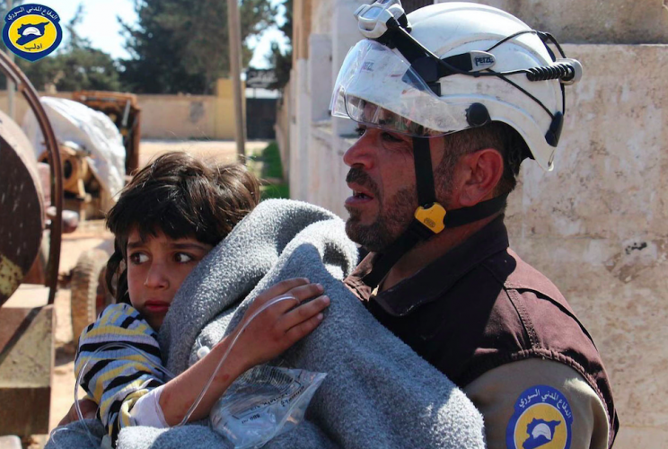 The chemical weapons incident in Syria last week left 89 people dead (Rex)