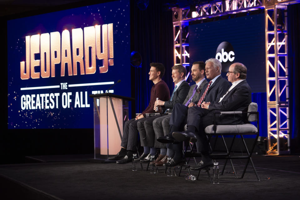 """""""Jeopardy: Greatest of All Time"""" has viewership numbers that beat Monday Night Football, the World Series, and the NBA Finals. (Stewart Cook/ABC via Getty Images)"""