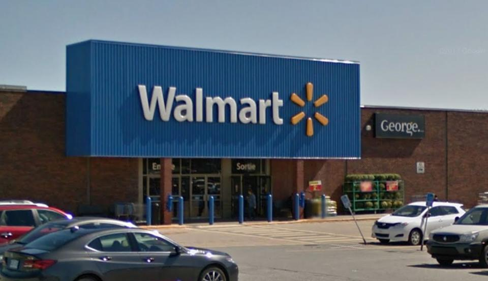 A security guard at the Walmart in Sherbrooke, Que., about 150 kilometres east of Montreal, was seriously injured after an alleged altercation. (Photo: Google Street View)
