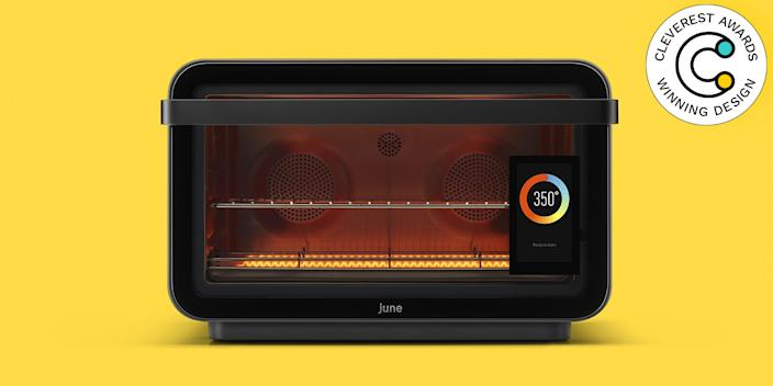 June Oven by June It's officially impossible to mess up dinner. With a tap of the touchscreen, set this countertop smart oven to cook one of more than 100 items to your preferred doneness, then just walk away—seriously! The oven handles everything for you (it's a convection oven, air fryer, dehydrator, slow cooker, broiler, toaster, and warming drawer in one) and will notify you on your phone when it's time to dig in. $599, juneoven.com