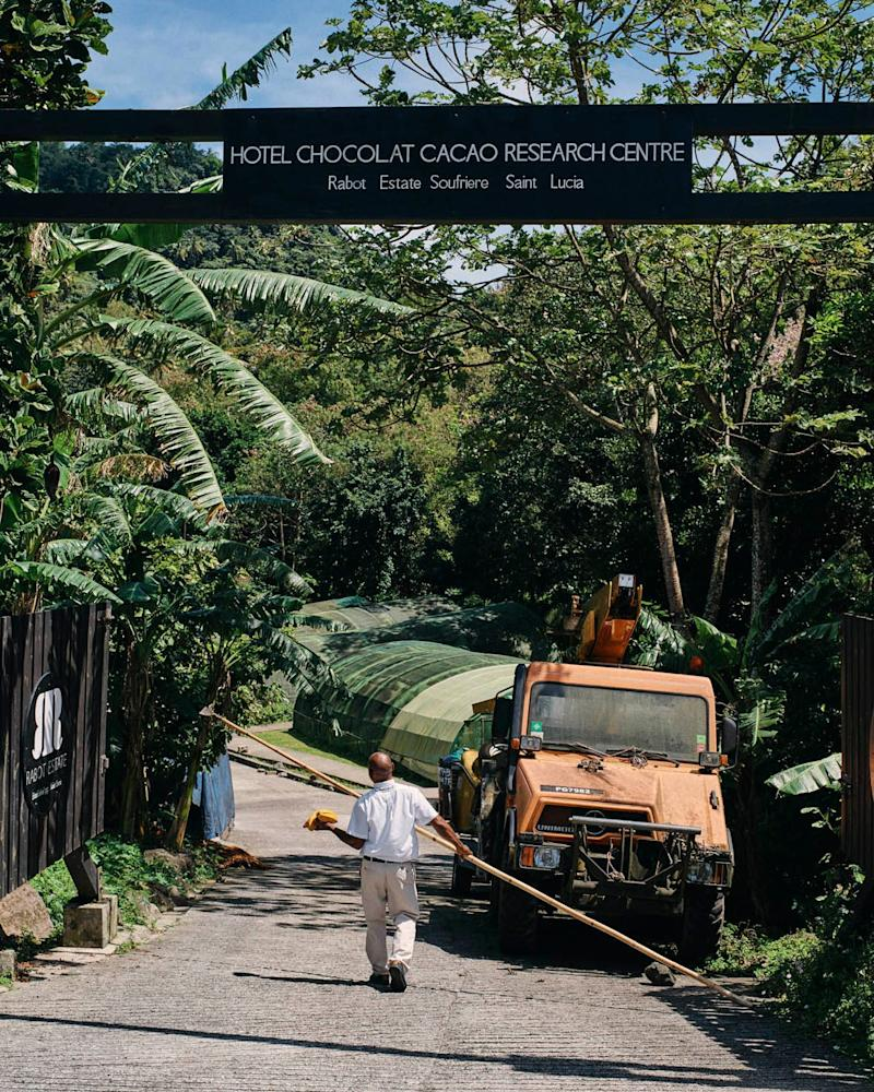 The entrance to the estate's Cocoa Research Centre - Credit: Ben Quinton