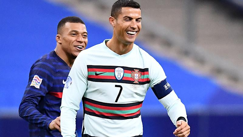 Cristiano Ronaldo, pictured here in action for Portugal against France.