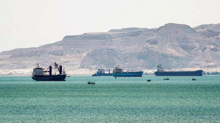 The blockage of the Suez Canal has left more than 360 ships treading water in the Red Sea and the Mediterranean