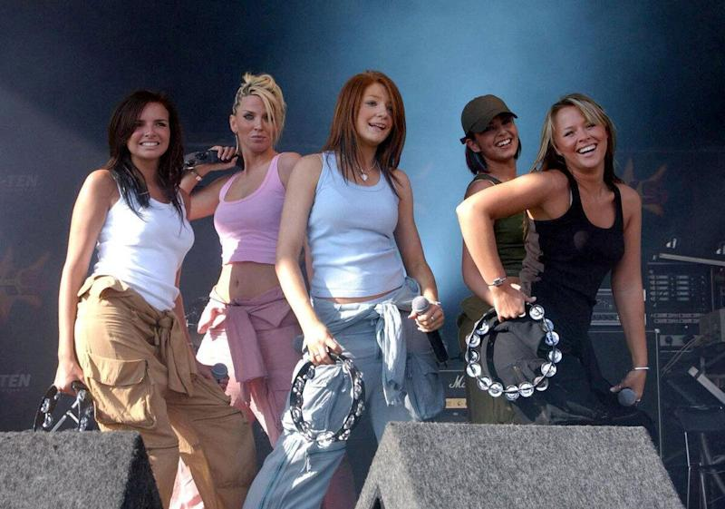 Girls Aloud perform on stage during the Summer XS Concert at the Rivermead Leisure complex in Reading.