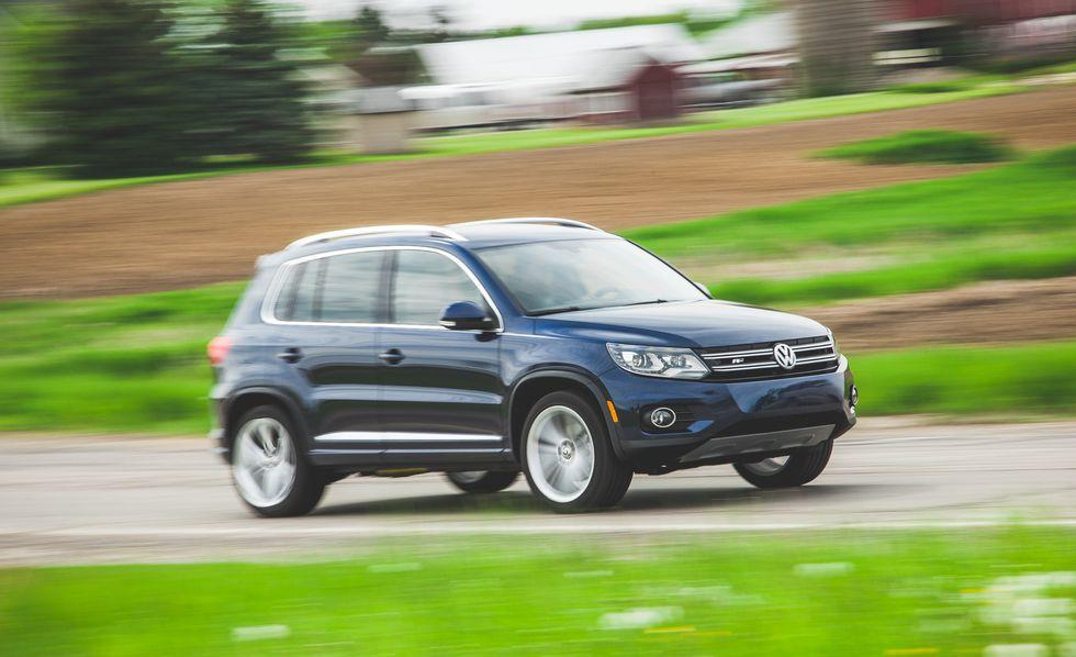 "<p><strong>J.D. Power Dependability Score: 81</strong></p><p>Precise steering and compact proportions make <a rel=""nofollow"" href=""https://www.caranddriver.com/reviews/2015-volkswagen-tiguan-fwd-instrumented-test-review"">the original Tiguan</a>-a second-generation model is out now-a great choice for city-dwelling SUV owners who need to fight through traffic or squeeze into tight parking spots. </p><p></p>"