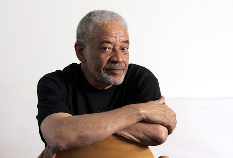 FILE - In this Wednesday, June 21, 2006, file photo, Bill Withers poses in his office in Beverly Hills, Calif. The punk trio Green Day, poet of the New York underground Lou Reed and Withers will lead a new class of inductees into the Rock and Roll Hall of Fame in 2015. (AP Photo/Reed Saxon, File)