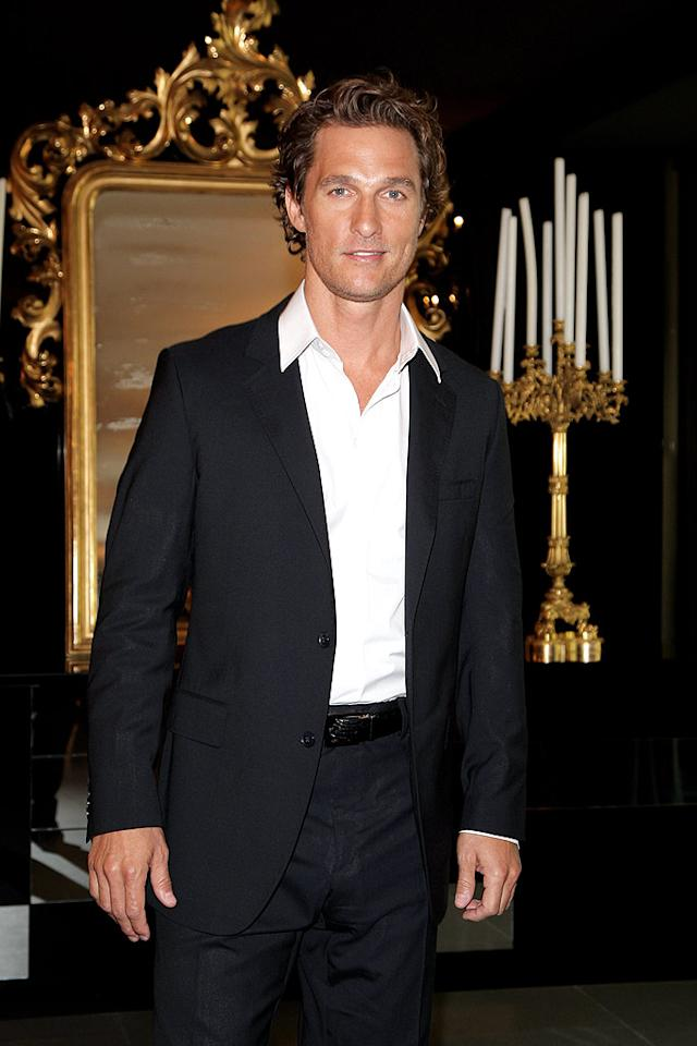 "24. Matthew McConaughey Venturelli/<a href=""http://www.wireimage.com"" target=""new"">WireImage.com</a> - September 25, 2008"