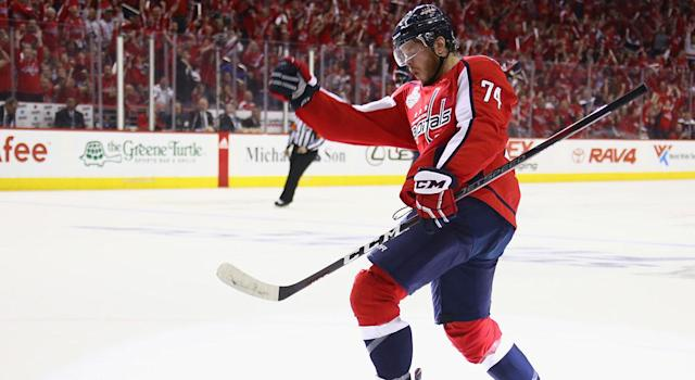 "<a class=""link rapid-noclick-resp"" href=""/nhl/players/4503/"" data-ylk=""slk:John Carlson"">John Carlson</a> is good, but not $8 million a year good. (Photo by Gregory Shamus/Getty Images)"
