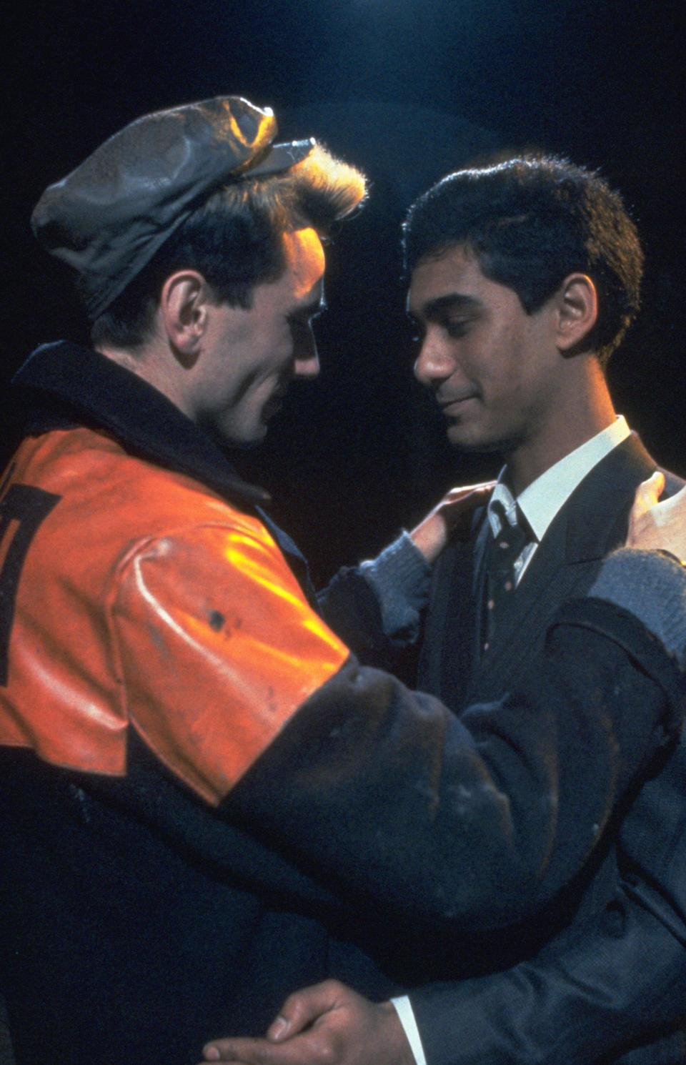 <strong><em><h3>My Beautiful Laundrette </h3></em></strong><h3>(1985)<br></h3><br>In a rough neighbourhood of London, Omar Ali (Gordon Warnecke) inherits a launderette from his uncle. Then, Omar is beat up by a gang of racist kids — the leader of whom is, surprisingly, Omar's ex-lover, Johnny (Daniel Day-Lewis). Despite Johnny's connection to the group, he and Omar rekindle their relationship. This acclaimed, heartening movie about love against the odds features what may be the best ear lick of all time.