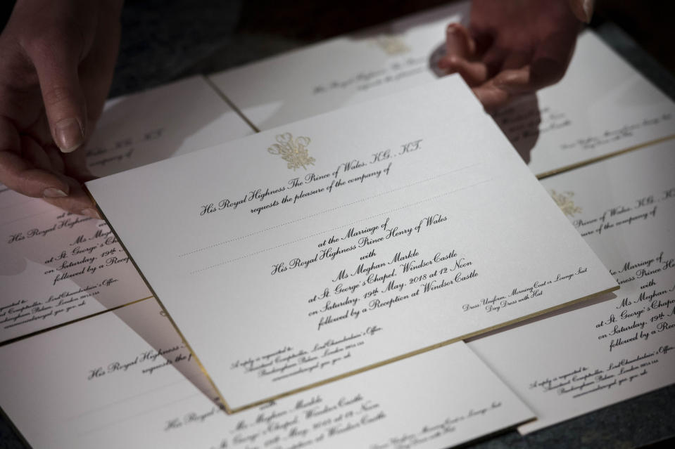 Prince Harry and Meghan Markle's wedding invitations were printed at the workshop of Barnard and Westwood in London [Photo: PA]