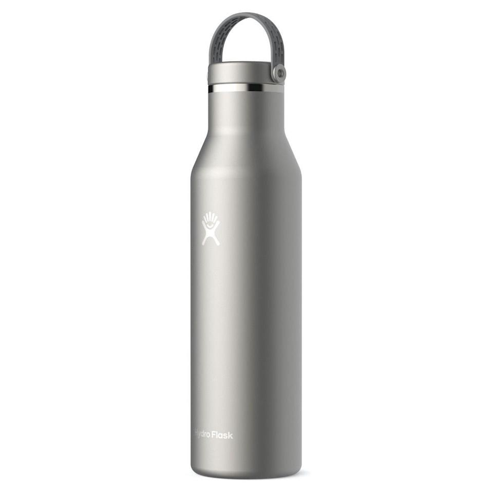 """<p>hydroflask.com</p><p><strong>$99.95</strong></p><p><a href=""""https://go.redirectingat.com?id=74968X1596630&url=https%3A%2F%2Fwww.hydroflask.com%2F21-oz-ultralight-standard-mouth-trail-series&sref=https%3A%2F%2Fwww.menshealth.com%2Ftechnology-gear%2Fg34088511%2Fmens-health-outdoor-awards-2020%2F"""" rel=""""nofollow noopener"""" target=""""_blank"""" data-ylk=""""slk:BUY IT HERE"""" class=""""link rapid-noclick-resp"""">BUY IT HERE</a></p><p>Hydro Flask's new lightweight design is made with durable titanium to keep your beverage cold for up to 24 hours and hot for for up to 12 hours.</p>"""