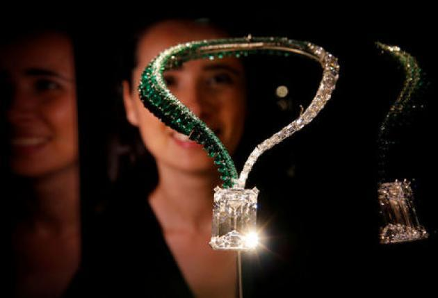 Necklace with largest flawless white diamond sold for record $34 million at auction