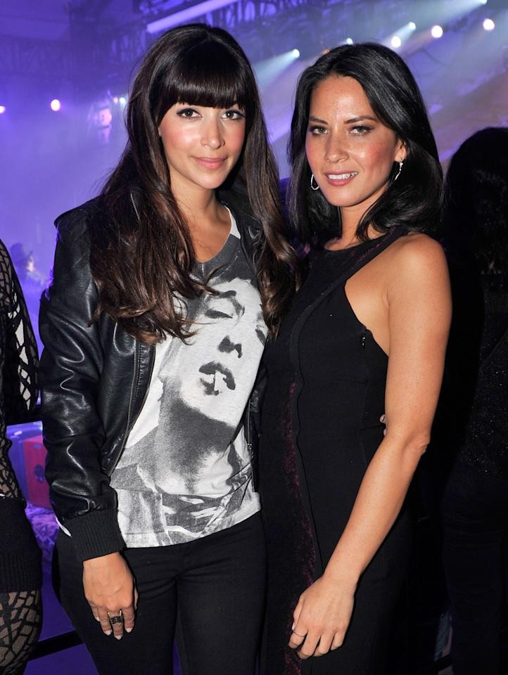 NEW ORLEANS, LA - FEBRUARY 02:  Actresses Hannah Simone (L) and Olivia Munn attend Bud Light Presents Stevie Wonder and Gary Clark Jr. at the Bud Light Hotel on February 2, 2013 in New Orleans, Louisiana.  (Photo by Stephen Lovekin/Getty Images for Bud Light)