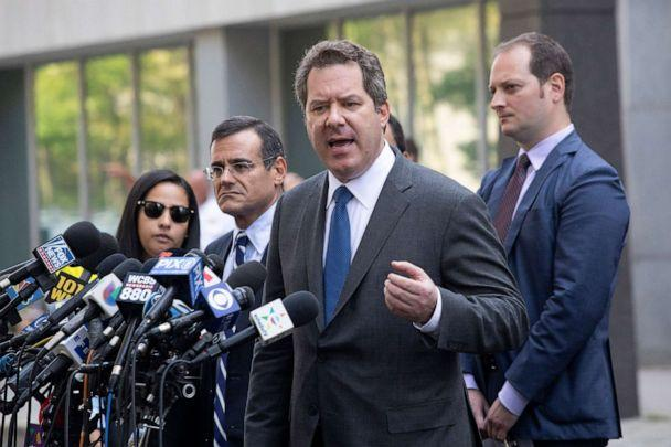 PHOTO: Jeffrey Lichtman, attorney for Mexican drug lord Joaquin 'El Chapo' Guzman, speaks to the media in front of Brooklyn federal court following his client's sentencing, July 17, 2019, in New York. (Mark Lennihan/AP)